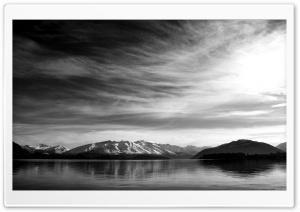 Mountain Scenery Black And White