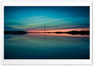 Summer Sunset Reflection