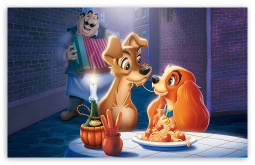 Download The Lady and The Tramp UltraHD Wallpaper