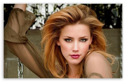 Download Amber Heard Pretty Face UltraHD Wallpaper