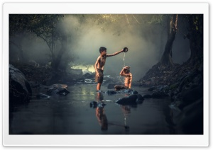 Bathing in a Creek
