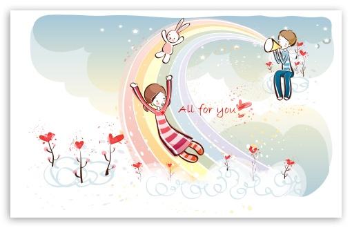 Download Love Rainbow Valentine's Day UltraHD Wallpaper