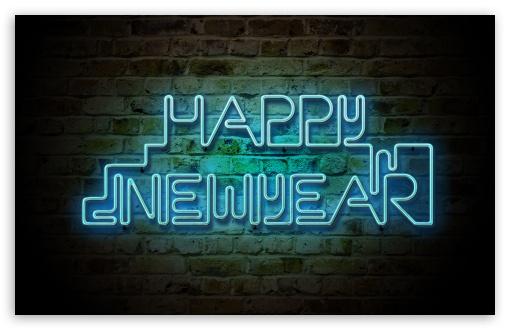 Download Happy New Year 2013 - Neon UltraHD Wallpaper