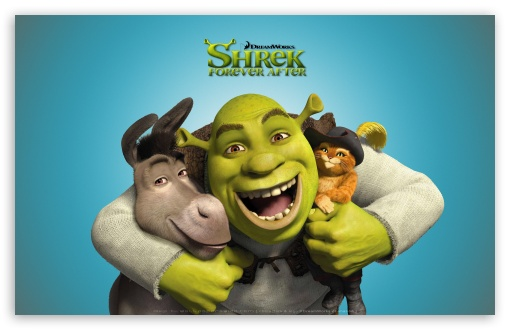 Download Shrek, Donkey and Puss in Boots, Shrek... UltraHD Wallpaper