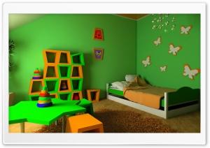 Children Bedroom Green Walls