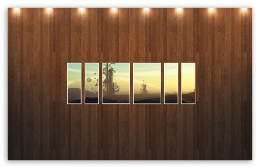Download Abstract Field Picture   Wood Wall UltraHD Wallpaper