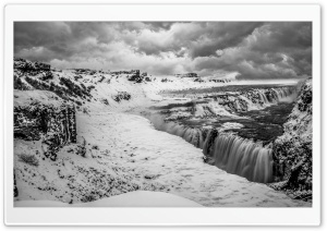 Gullfoss waterfall, Iceland,...