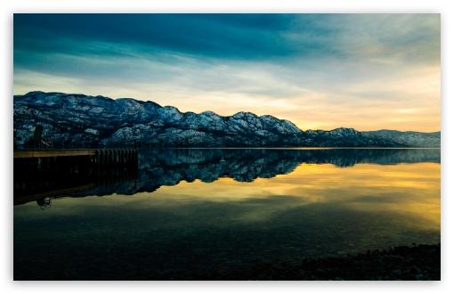 Download Mountain Lake Sunset UltraHD Wallpaper