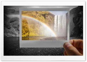 Rainbow Over Skogafoss...