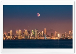 Supermoon Eclipse over San Diego
