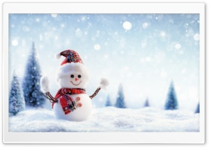 Snowman, Snowfall, Winter