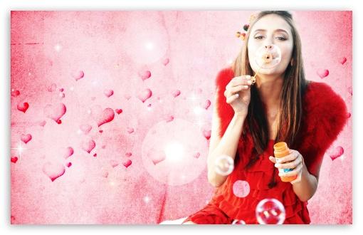 Download Nina Dobrev Blowing Bubbles UltraHD Wallpaper