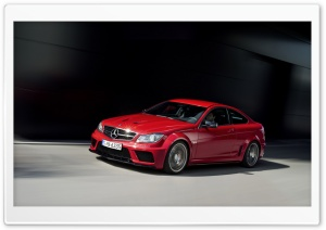 Mercedes Benz C 63 Amg Red Coupe