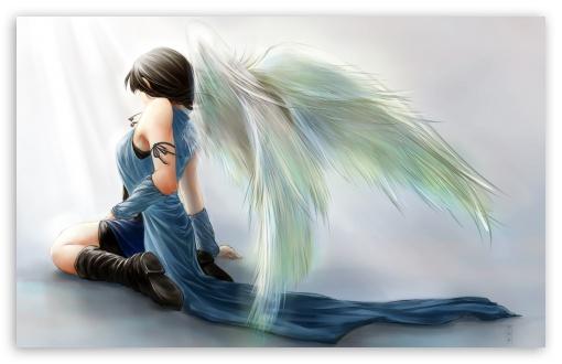 Download Rinoa Heartilly Angel Wings UltraHD Wallpaper