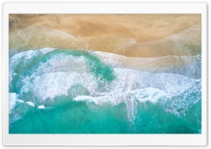 Beautiful Beach Waves Drone...