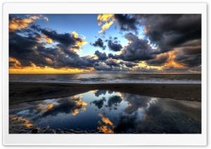 Beach, Dark Clouds, Sea