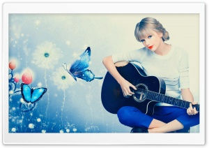 Taylor Swift Playing Guitar