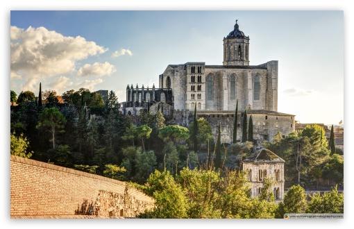 Download Girona Cathedral Catalonia UltraHD Wallpaper