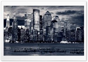 Manhattan Panorama In Black...