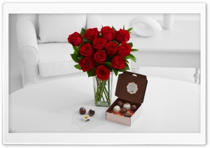 Cake Truffles and Red Roses...