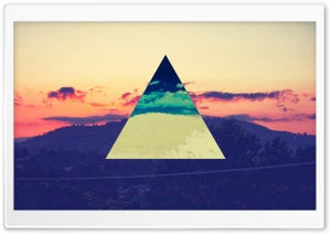 Sunset Inverted Colour Triangle