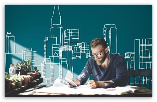 Download Architect at Work UltraHD Wallpaper