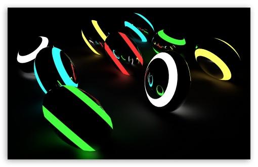 Download Neon Balls UltraHD Wallpaper