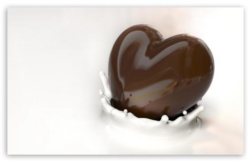 Download Chocolate Heart UltraHD Wallpaper