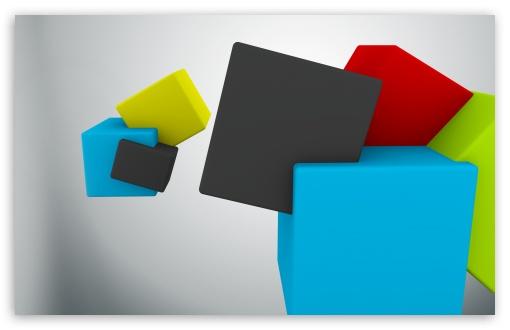 Download Colorful Cubes UltraHD Wallpaper