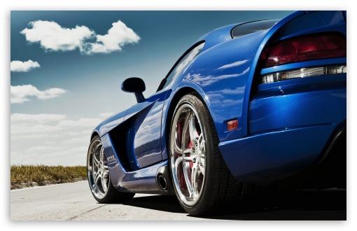 Download Dodge Viper Blue UltraHD Wallpaper