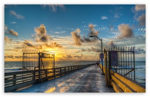 Download Ocean Beach Pier UltraHD Wallpaper