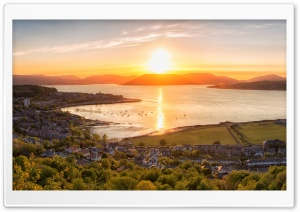 Sunset on Gourock town, Scotland
