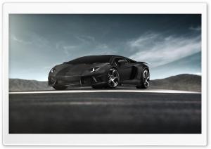 Black Lamborghini Aventador...