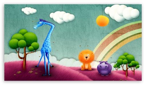 Download Abstract Animals UltraHD Wallpaper