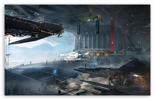 Download Destiny, Tower Hangar UltraHD Wallpaper