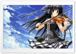 Anime Girl Playing Violin