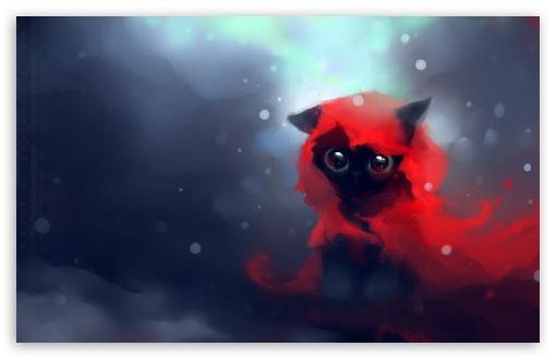 Download Red Riding Hood Cat UltraHD Wallpaper