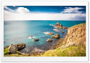 Rocky shorelines at Lands...