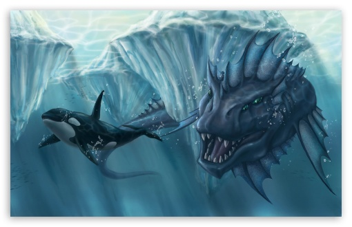 Download Prehistoric Underwater Monster UltraHD Wallpaper