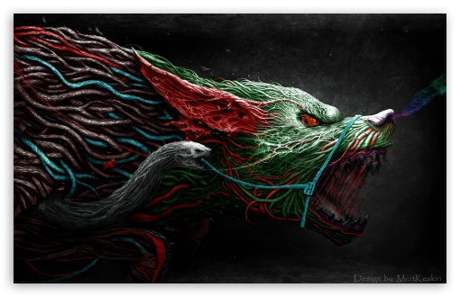 Download Angry Wolf UltraHD Wallpaper