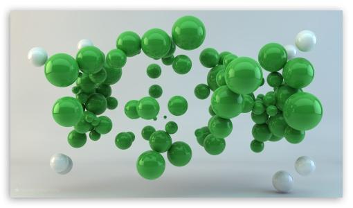 Download Green Balls UltraHD Wallpaper