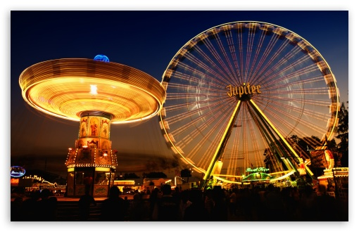 Download Ferris Wheel HDR UltraHD Wallpaper
