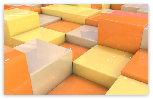 Download Cubes With Fantastic Reflections UltraHD Wallpaper