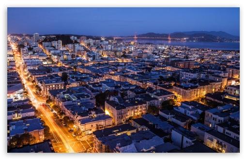 Download San Francisco at Night UltraHD Wallpaper
