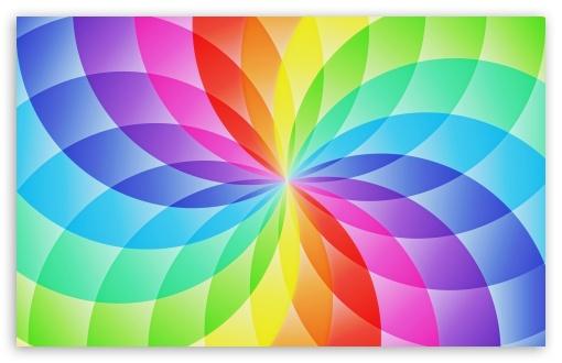 Download Rainbow Circles UltraHD Wallpaper