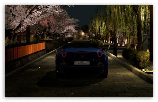 Download Ferrari California GT5 in Kyoto Gion UltraHD Wallpaper