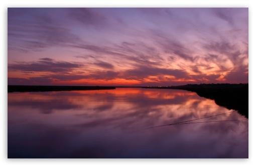 Download Lake Sunset UltraHD Wallpaper