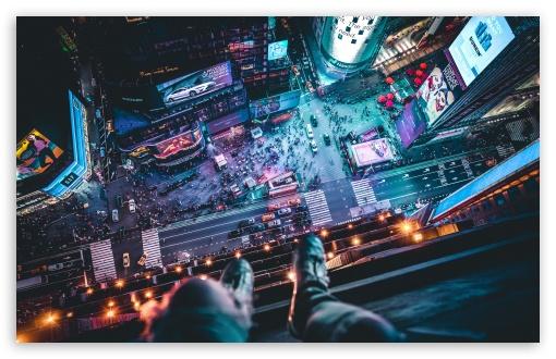 Download Top of Skyscraper Selfie UltraHD Wallpaper