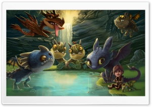 Hiccup, Toothless and friends