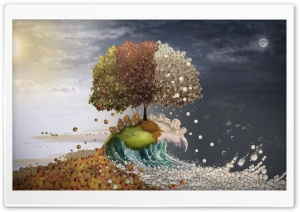 Seasons Surreal Art